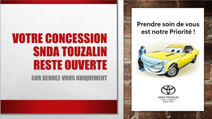 Toyota SNDA Touzalin affiche confinement partenaire UCC Vivonne