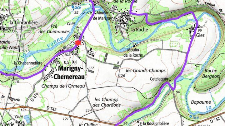Balade vélo 16 Marigny-Chémereau Vallées du Clain UCC Vivonne