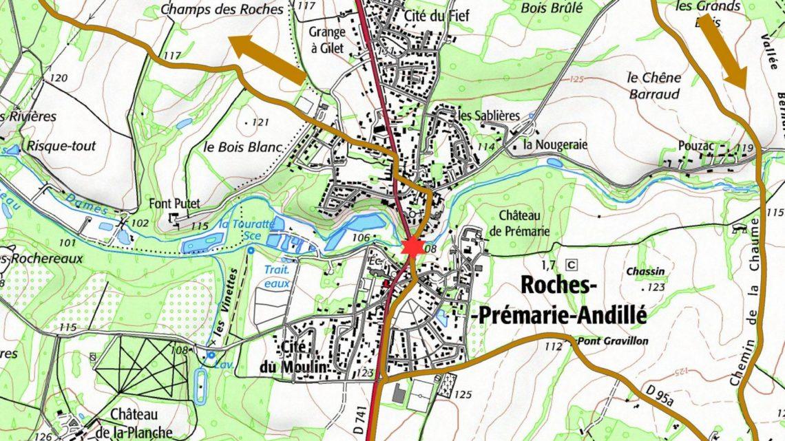 Balade vélo 5 Roches-Prémaries Vallées du Clain UCC Vivonne