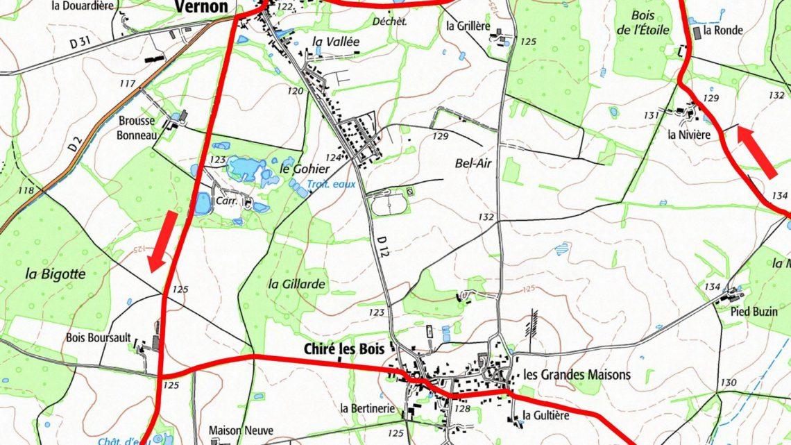 Balade vélo 10 Vernon Vallées du Clain UCC Vivonne