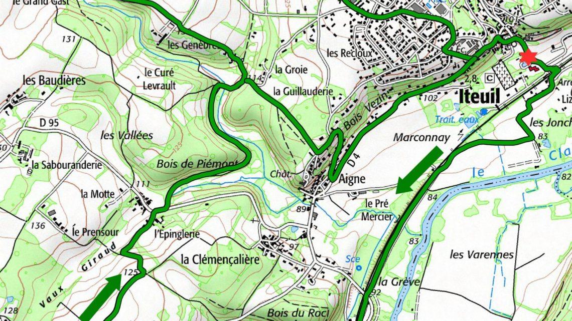 Balade vélo 14 Iteuil Vallées du Clain UCC Vivonne