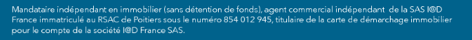Mentions légales IAD Franck CHARBONNIER